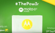 Moto E3 Power arriving in India next week
