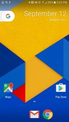 Homescreen > App Drawer > Press and hold for options