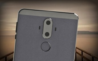 Huawei Mate 9 images show a flat screen and two cameras