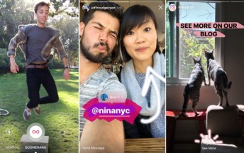 Instagram Stories now support mentions, links, and Boomerang