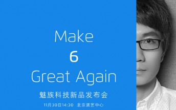 Meizu teases Flyme 6, to be announced on November 30