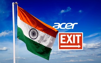 Acer ceases smartphone sales in India