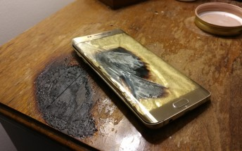 Reddit user's Samsung Galaxy S6 edge+ catches fire