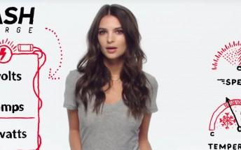 Watch Emily Ratajkowski explain how OnePlus Dash Charge works
