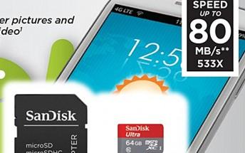 SanDisk's 64GB microSD card receives price cut in US