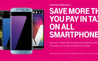 Buy any smartphone from T-Mobile, get 11.2% of its price back via prepaid card (from February 1)
