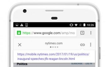 Google makes it easier to share original URL in AMP links
