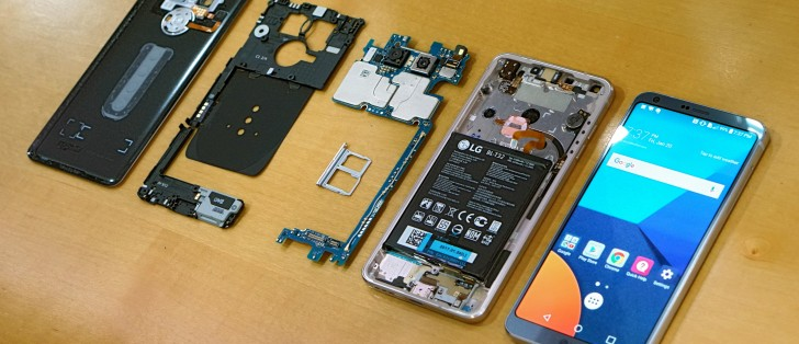 LG G6 disassembly reveals an advanced heat pipe, sealed-in