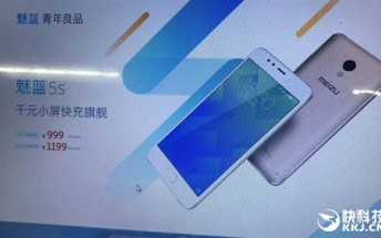 Meizu M5s pricing revealed prior to its introduction on February 15