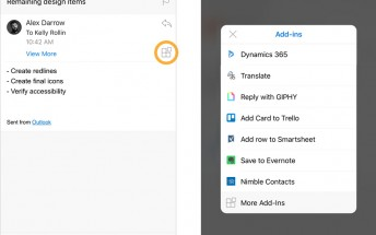 Outlook for iOS now supports add-ins, they're coming to Android soon