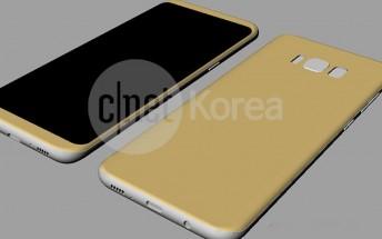 New Galaxy S8 and S8 Plus schematics come with precise dimensions