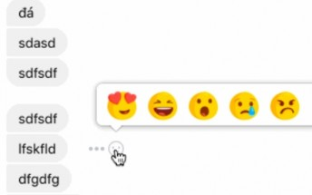 Facebook testing reactions in Messenger