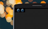Alleged LG V30 front panel shows a dual-selfie cam