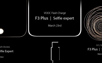 Oppo teases VOOC and F/1.7 lens for F3 Plus