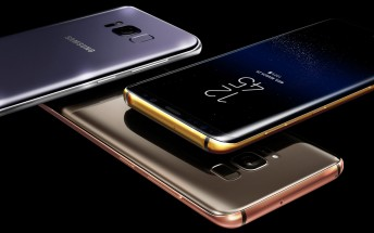 Truly Exquisite covers Galaxy S8 and S8+ with 24K gold