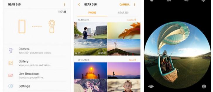 Samsung Gear 360 (2017) companion app now available for