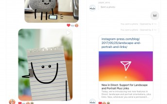 Instagram Direct finally adds support for landscape and portrait images, link previews