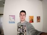 Low light wide-angle selfie