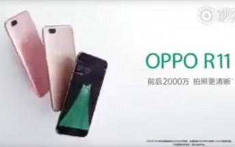 Oppo R11 leaks in a TV commercial