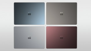 Surface Laptop in Cobalt Blue, Platinum, Graphite Gold and Burgundy