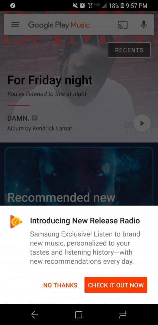 Google Play Music New Release Radio