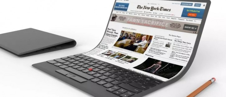 Lenovo introduces flexible laptop concept, because why not