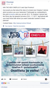 Oneplus Finland
