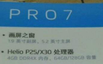 Meizu Pro 7 spec sheet leaks ahead of tomorrow's unveiling