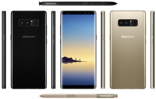 Galaxy Note8 in Black and Gold
