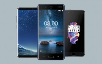The Nokia 8 vs Samsung Galaxy S8+ vs OnePlus 5 - how they compare