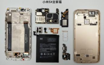See the Xiaomi Mi 5X internals in this teardown