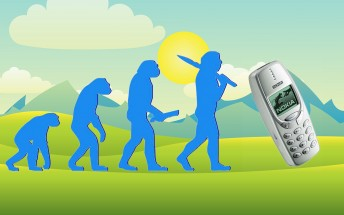 Counterclockwise: Nokia 3310 and and its family tree