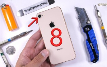 Watch the iPhone 8 get scratched, burned and bent