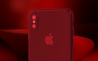 Red iPhone 8 briefly glimpsed on video