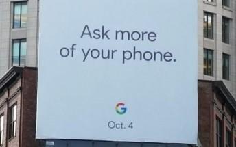 Billboard suggests October 4 unveiling for Google Pixel 2