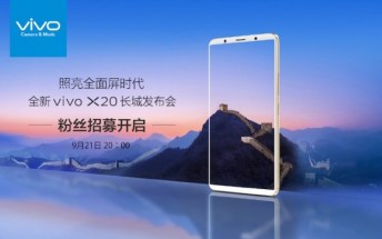 vivo X20 official unveiling set for next week