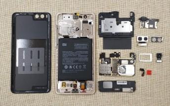Xiaomi Mi Note 3's innards revealed in teardown