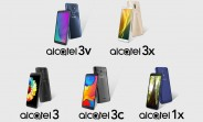 Six upcoming Alcatel smartphones show up in leaked render