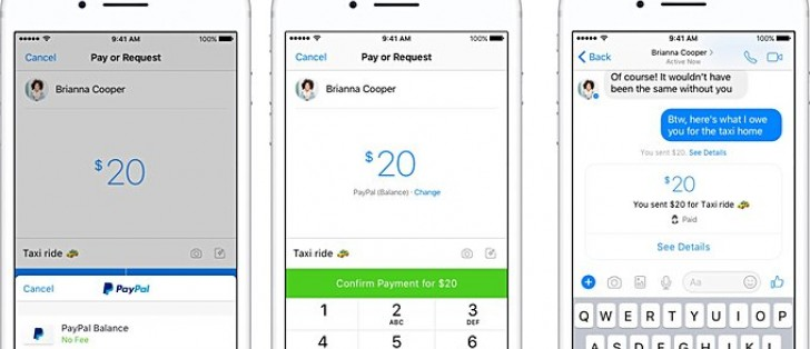 Facebook Messenger users can now send/receive money through