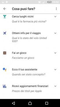 Google Assistant in Italian