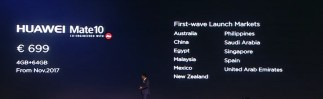 Huawei Mate 10 launch and pricing info