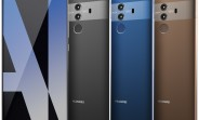 Huawei Mate 10 Pro shows its colors, cameras