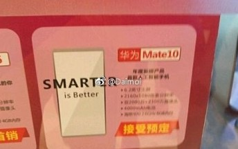 Promo material reveals 6.2-inch display and 4,000mAh battery for Huawei Mate 10