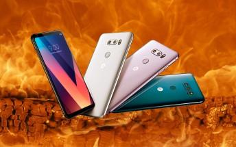 LG V30 lives through scratch, bend and burn tests