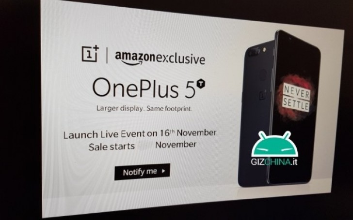 OnePlus 5T might arrive on November 16