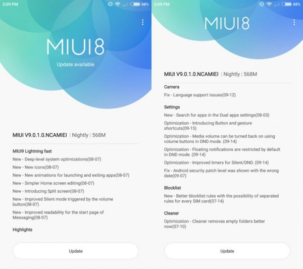 MIUI 9 Global ROM starts hitting Xiaomi Mi 6
