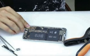 iPhone X torn down on video, reveals dual batteries