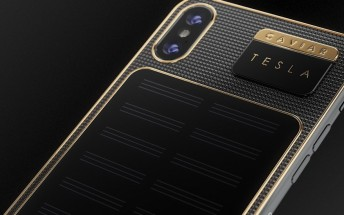 Caviar introduces iPhone X Tesla with solar panel on the back