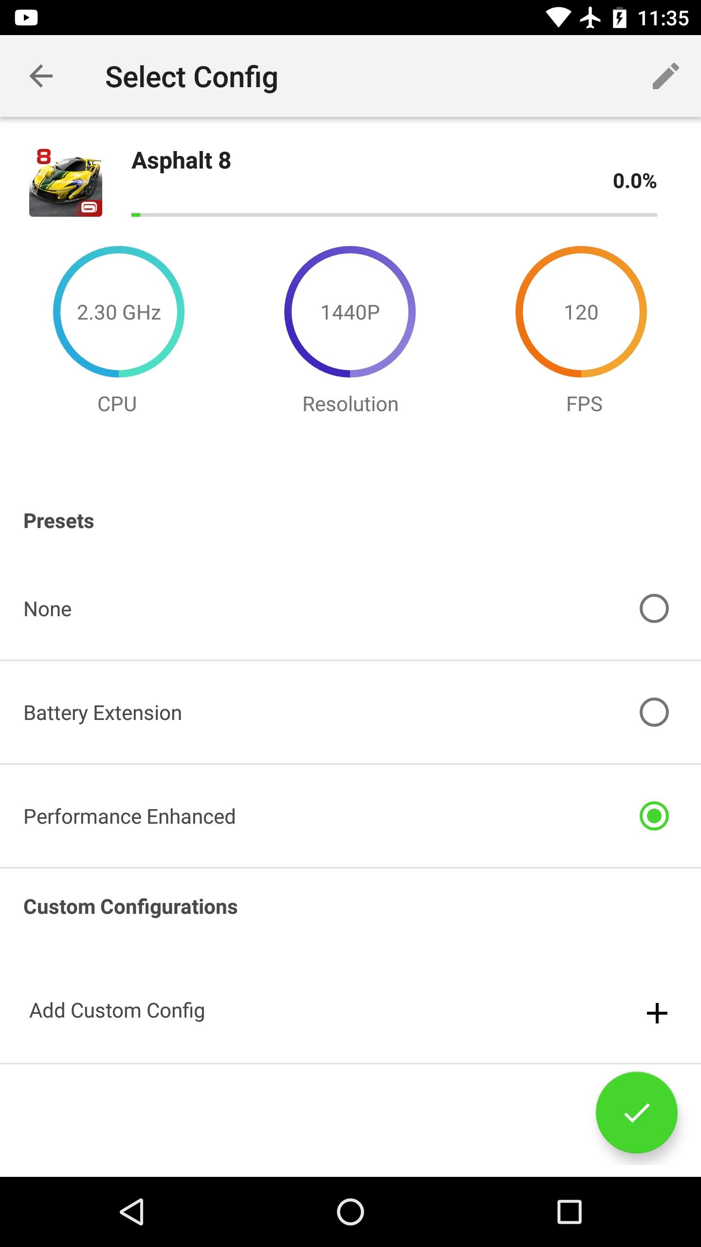 Set balance between performance or battery life