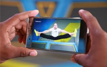 Sony Xperia XZ Premium captures trampoline dodgeball at 960fps
